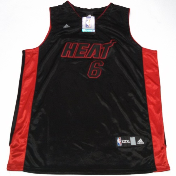 low priced 03c48 fd373 Adidas LeBron James Miami Heat Jersey #6 NBA Store NWT